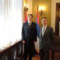 Találkozó Arturo Laclaustra Beltránnal, a Spanyol Királyság belgrádi nagykövetével