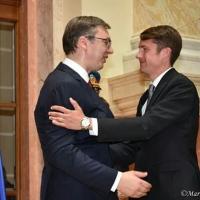 Sa novi predsednikom Republike nakon polaganje zakletve